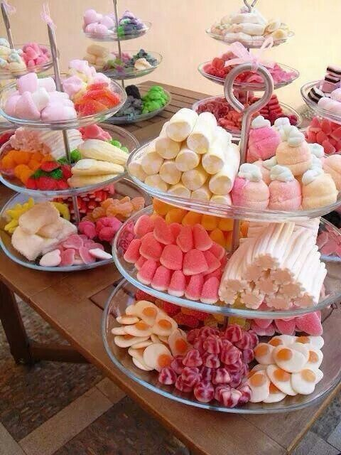 Cómo presentar las chuches en mesas dulces 2