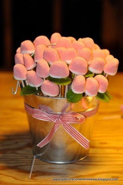 Cómo presentar las chuches en mesas dulces 11