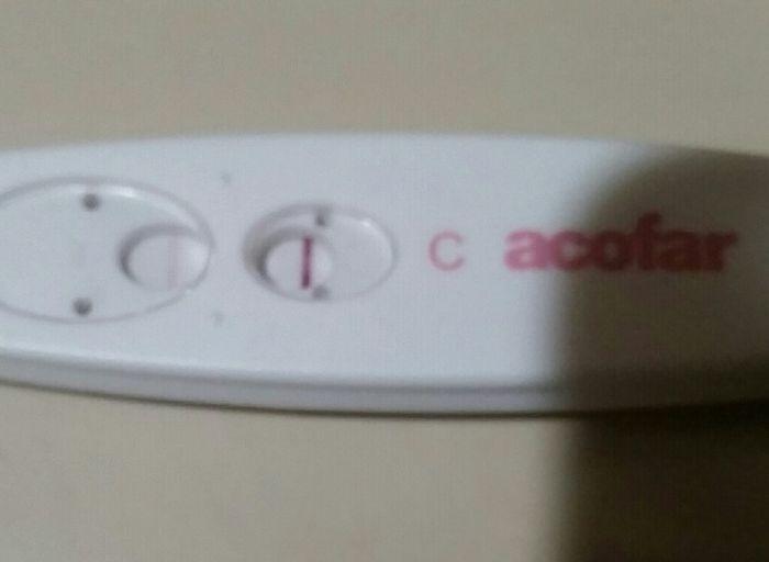 Test de embarazo positivo debil