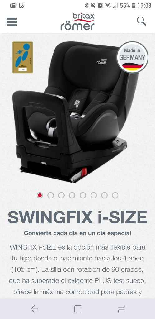 Existe silla de coche de grupo 0+ 1 2 3 y giratoria? - 1