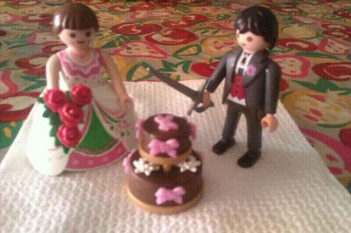 mis muñecos de la tarta