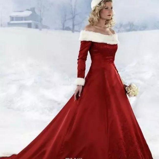 Y un vestido de novia navideño?? 6