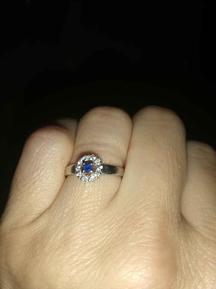 ¿Rodiar para la boda el anillo de pedida? - 1