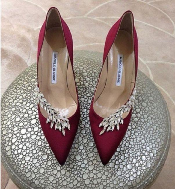 zapatos novia color granate//vino - moda nupcial - foro bodas