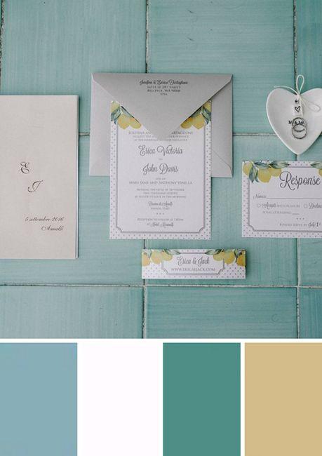 ¿Qué paleta de colores prefieres para tus invitaciones? 1