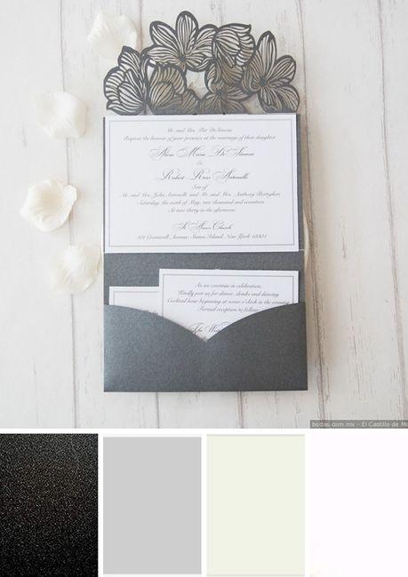 ¿Qué paleta de colores prefieres para tus invitaciones? 3
