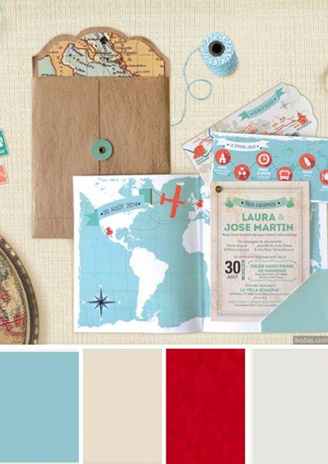 ¿Qué paleta de colores prefieres para tus invitaciones? 6