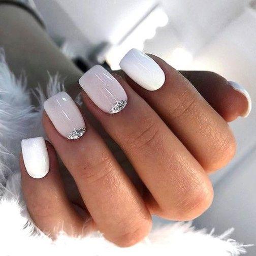 Manicura novia minimalista