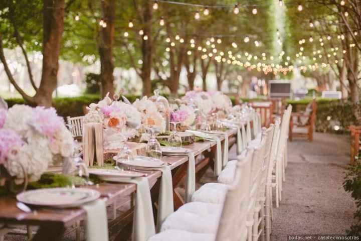 Banquete boda aire libre