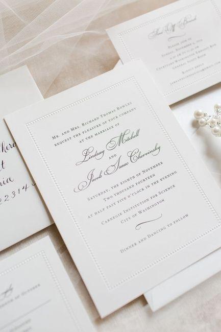 Invitaciones: ¿blancas o de color? 1