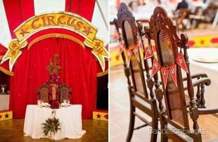 deco boda circo