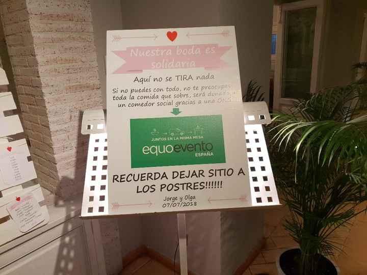 cartel donacion comida