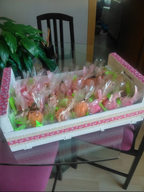 Mi caja de fruta decorada con bolsitas de arroz Manualidades