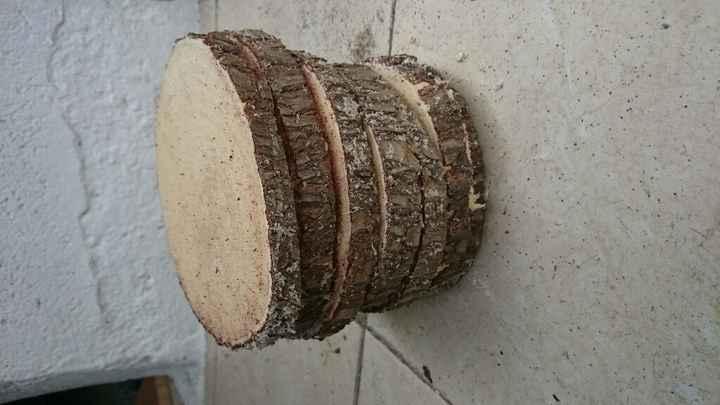 Mis rodajas de madera para centros de mesa - 2