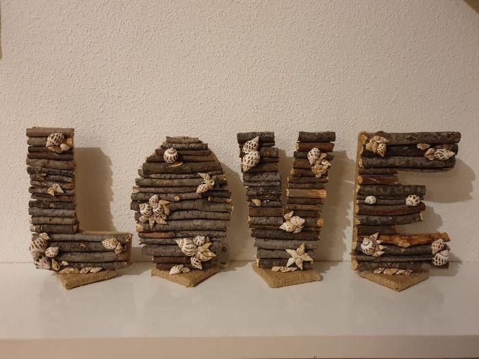 Mis letras para la mesa nupcial - 1