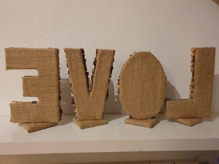 Mis letras para la mesa nupcial - 2