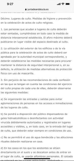 Nueva normalidad Andalucía, boe - 2
