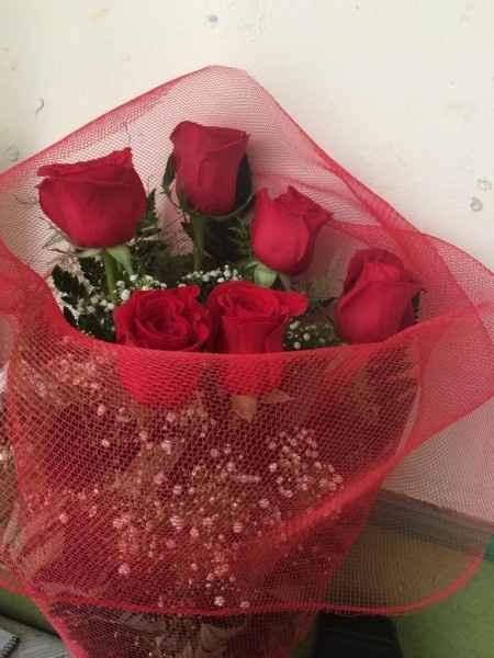 Aniversario con rosas y anillo de pedida! - 1