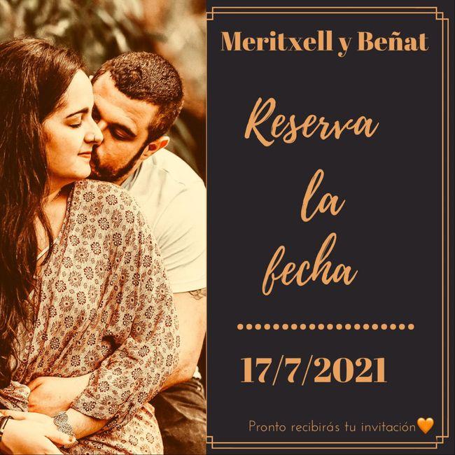 """Nuestro """"reserva la Fecha"""" ♾ - 1"""