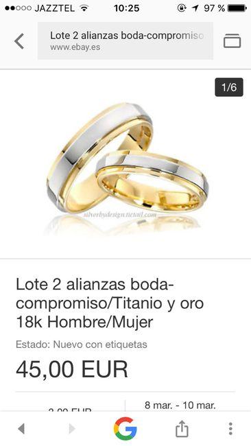Alianzas boda ebay