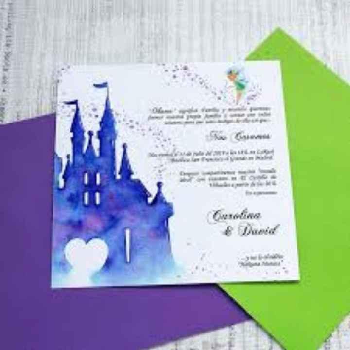 Ideas para invitaciones Disney - 1
