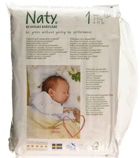 Pañales ecologicos Naty