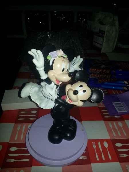 Figura tarta mickey + minnie - 1