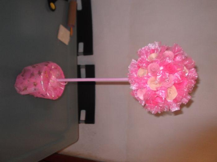 Tutorial topiario de flores de fieltro y tul 11