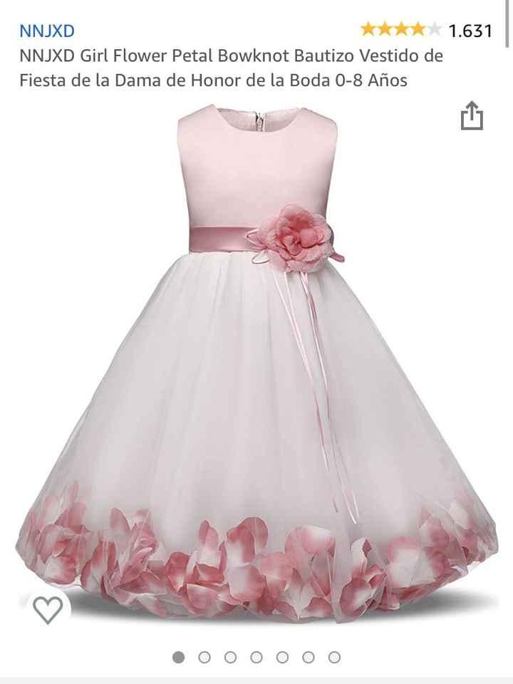 Vestidos niñas de las flores - 1