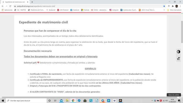 Cita para el registro civil de Zaragoza - 1