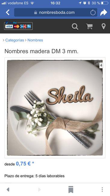 Detalle nombres para mesa invitados de madera 1
