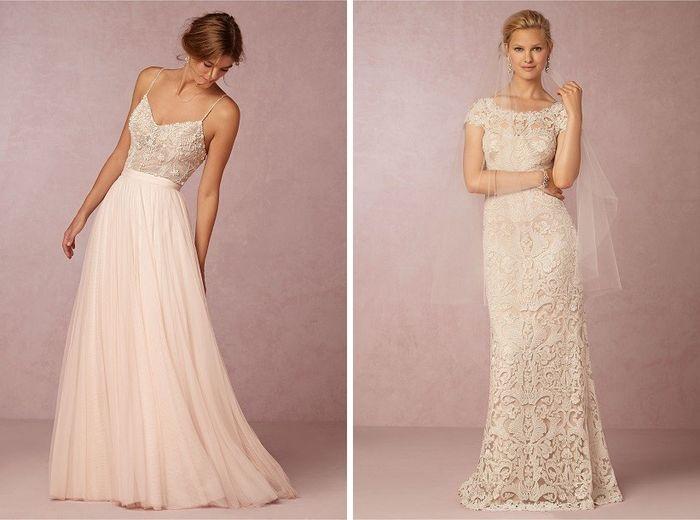 vestidos de novia en color nude - moda nupcial - foro bodas