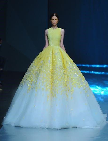 vestidos de novia en color amarillo - moda nupcial - foro bodas