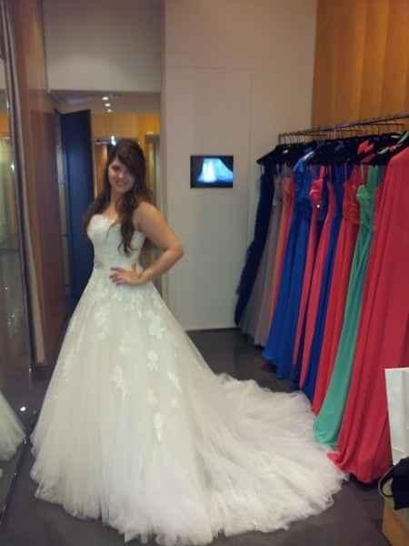 Tu primera prueba del vestido de novia en una palabra! - 1