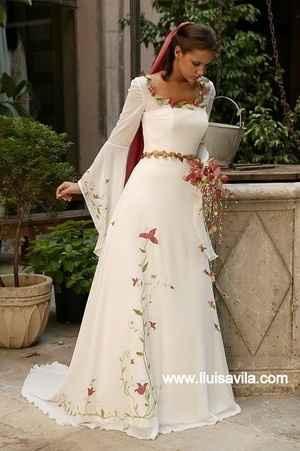 vestido con bordados