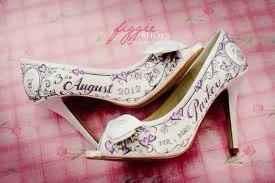 zapatos pintados a mano de novia
