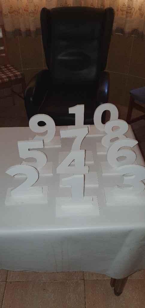 Número para las mesas. - 1
