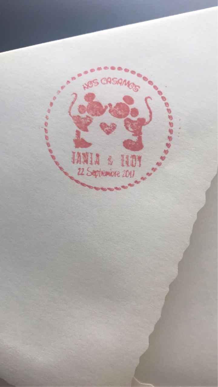 Nuestro sello de boda personalizado! - 1