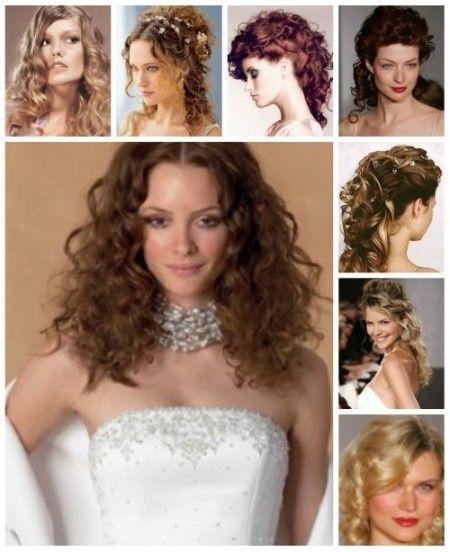 peinado de novia con pelo muy rizado