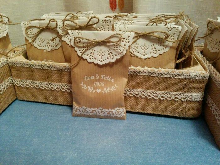 Mis bolsita de arroz y las cajas organizar una boda - Bolsitas de tela de saco ...