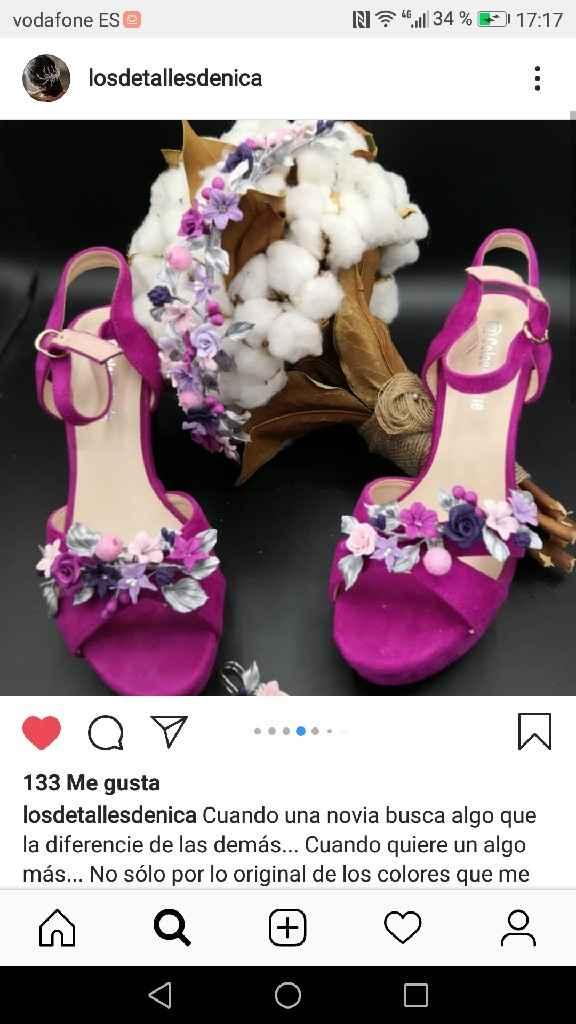 Apliques zapatos de novia. - 1