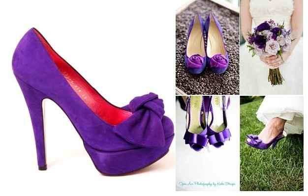zapatos lilas