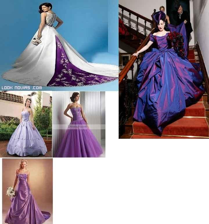 Vestidos lilas