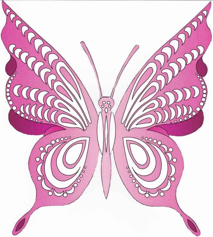 Mariposa agradecimiento por delante