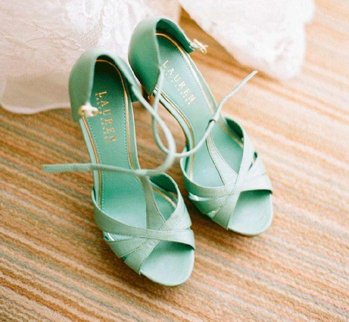 Sandalias verde agua 1