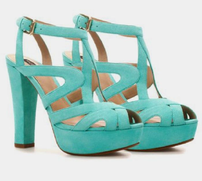Sandalias verde agua 2