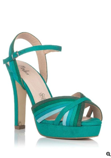 Sandalias verde agua 3