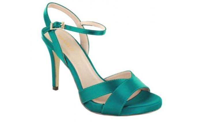 Sandalias verde agua 13