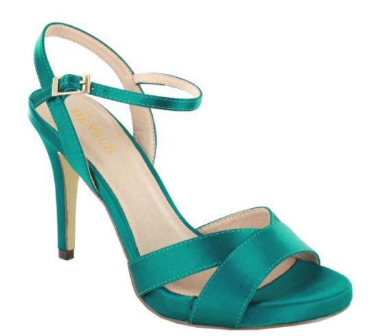 Sandalias verde agua 8