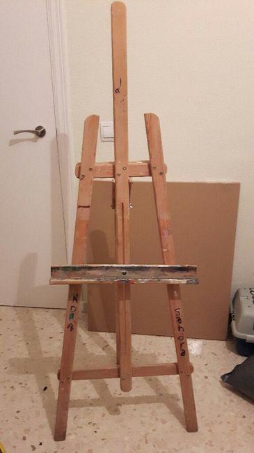 Tengo un caballete que no lo uso lo usaba de pequeña para pintar 3